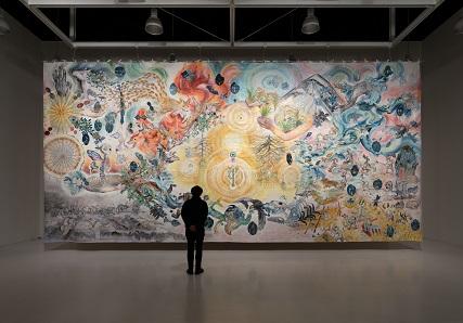 大小島真木+アグロス・アートプロジェクト《明日の収穫》2017-18 年度に開催された《アグロス・アートプロジェクト》で地元の参 加者とアーティストにより制作された。青森EARTH2019の出品作品。
